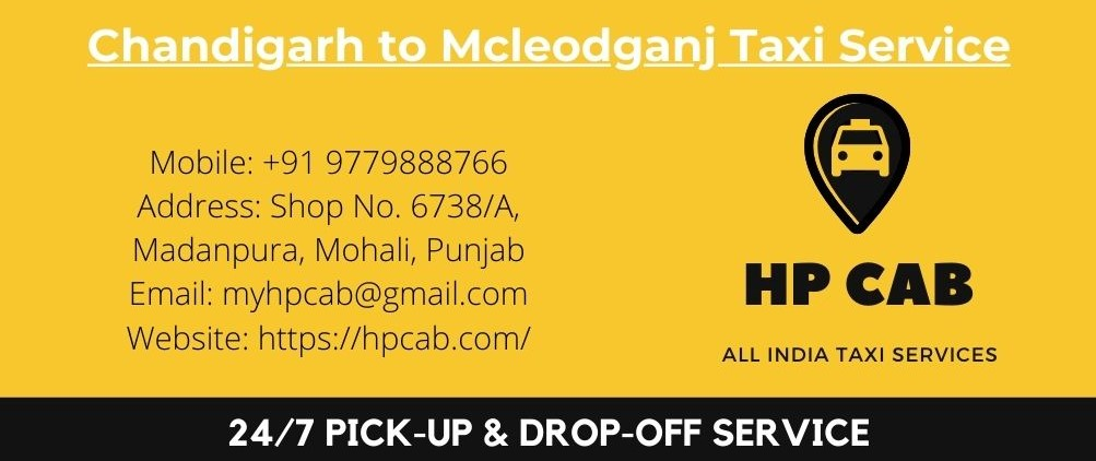 Chandigarh to Mcleodganj Taxi Service