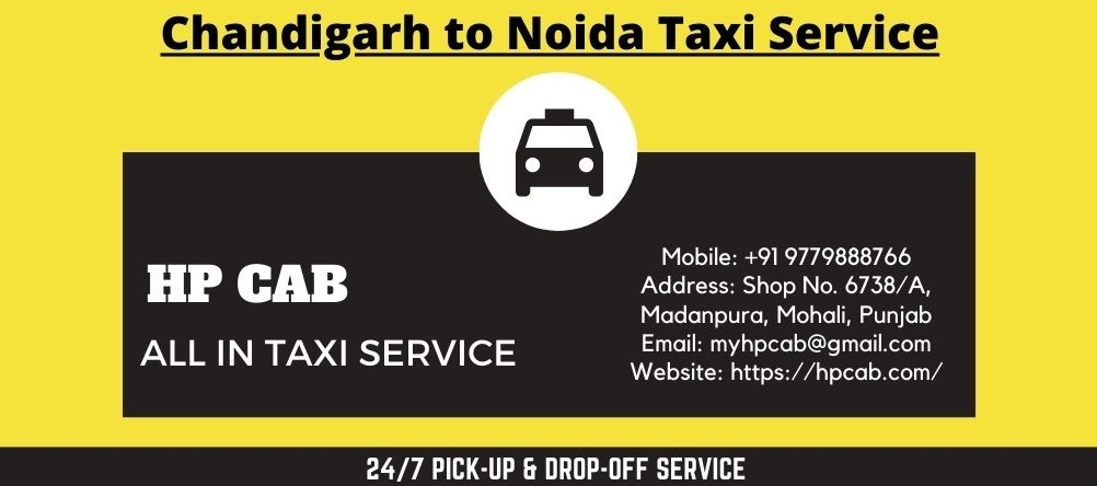 Chandigarh to Noida Taxi Service