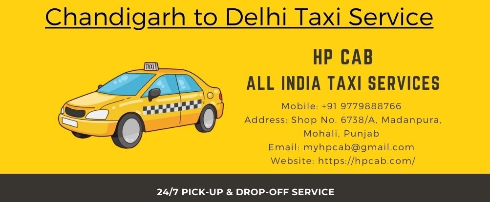 chandigarh to delhi taxi services